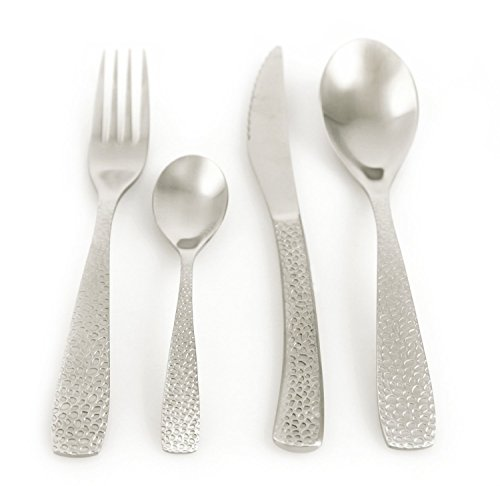 Villa D\'Este Stone 24-piece Cutlery Set, Satin, steel, grey: Amazon ...