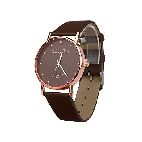 Frunalte watch, Casual Luxury Fashion Style Women's Diamond Case Leatheroid Band Round Dial Quartz Wrist Watch Clearance - Round Case Diamond Watch