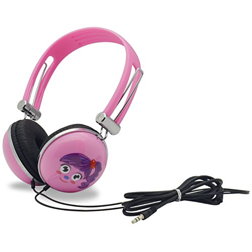 - WONNIE Headset for Portable DVD Player, PC, mobile phone, Cartoon Headphone (Pink)