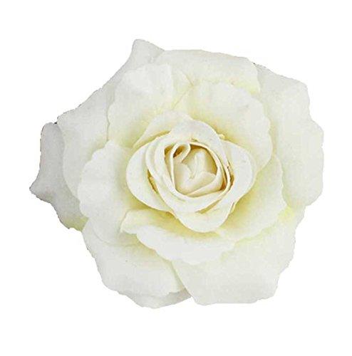 - Daisyu Women Girl Bohemian Flower Hairpin Brooch Flower Hair Clip(White)
