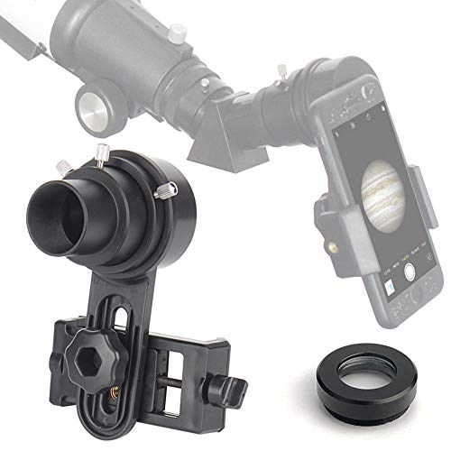 Telescope Cell Phone Adapter Mount Only Applicable with 1.25 Inch Eyepiece Telescope Fits Almost Smartphone on The Market(Width Between 55-102mm) (Camera Mount For Telescope Meade)