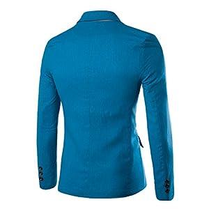 bbea24a9f7eb Pishon Men s Linen Blazer Lightweight Casual Solid One Button Slim Fit  Sport Coat