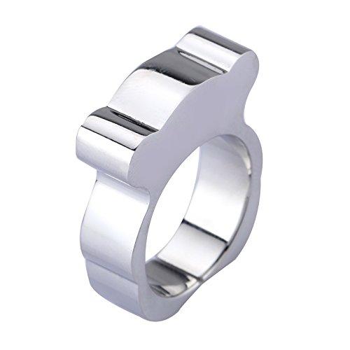 - Silver Teddy Bear Stainless Steel Ring for Girl (9)