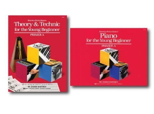 Bastien Piano Basics for the Young Beginner Primer A Level - Two Book Set - Includes Piano Basics for the Young Beginner and Theory & Technic for the Young Beginner Books -