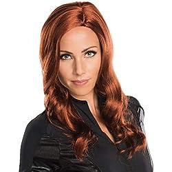 Secret Wishes Women's Captain America: Civil War Deluxe Black Widow Wig, Black, One Size