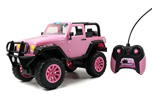 - Jada Toys GIRLMAZING Big Foot Jeep R/C Vehicle (1:16 Scale), Pink