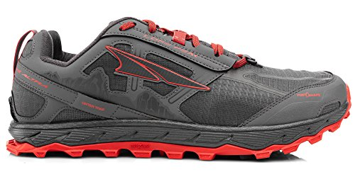 ALTRA AFM1855F Men's Lone Peak 4.0 Trail Running Shoe, Gray/Orange - 10 D(M) US (The Best Trail Running Shoes)