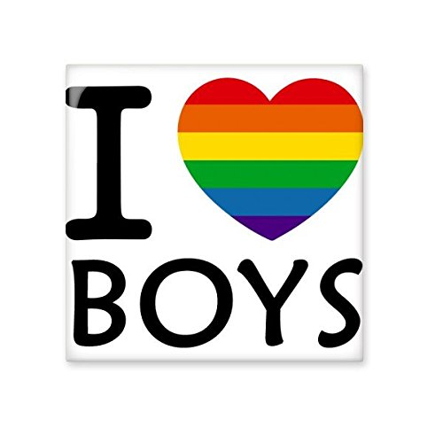 cheap LGBT Rainbow Gay Lesbian Transgender Bisexuals Support I Love Boys Flag Illustration Ceramic Bisque Tiles for Decorating Bathroom Decor Kitchen Ceramic Tiles Wall Tiles