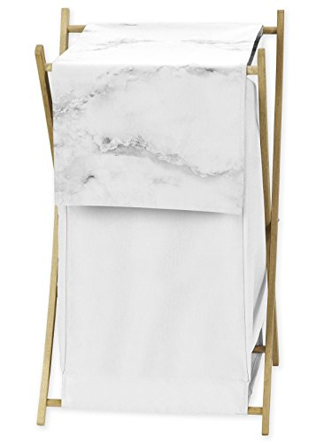 Sweet Jojo Designs Clothes Laundry Hamper for Modern Grey, Black and White Marble Bedding Sets by Sweet Jojo Designs