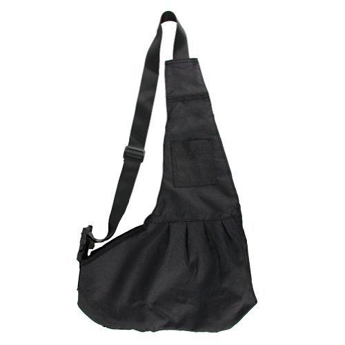 Pet Sling-Style Carrier Dog Cat Black Sling Bag- Small Size