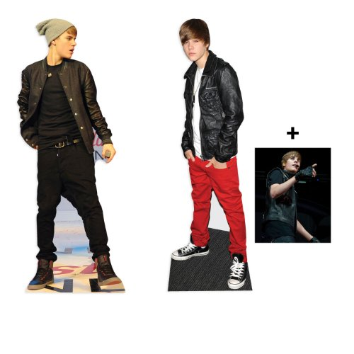 *DOUBLE FAN PACK* - JUSTIN BIEBER LIFESIZE CARDBOARD CUTOUT (STANDEE / STANDUP) SET - INCLUDES 8X10 (25X20CM) STAR PHOTO - FAN PACK -