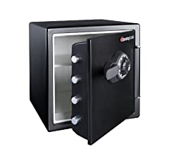 Sentrysafe Fire & Water Safe, Extra Large Combination Safe, 1.23 Cubic Feet, Sfw123cs