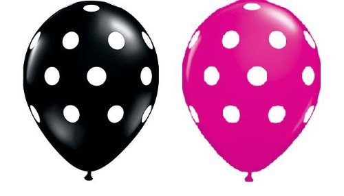 Polka Balloons Premium Black All Over product image