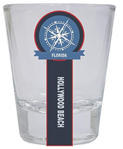 Hollywood Beach Florida Nautical Souvenir Round Shot Glass
