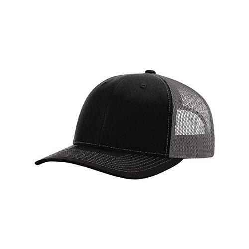 Richardson Trucker Cap, Black/Charcoal, One Size
