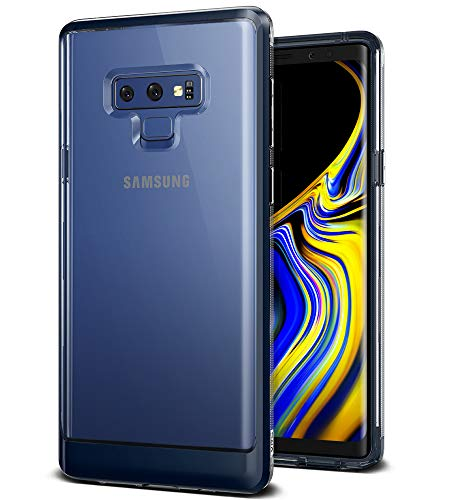 Note 9 Case, VRS Design [Blue] Transparent Dual Layer Heavy Duty Protection [Crystal Bumper] Anti-Yellowing TPU Body PC Bumper for Samsung Galaxy Note 9 (2018) by V VRS DESIGN