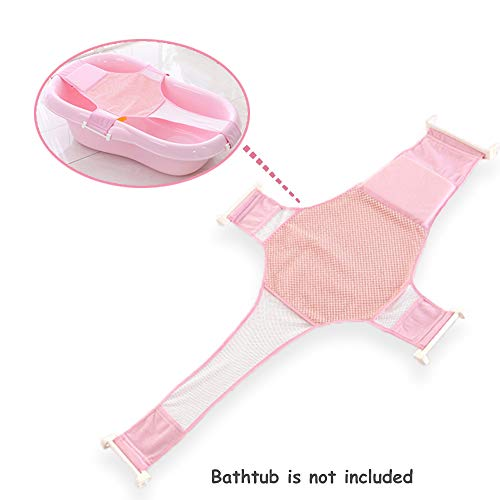 Synthiiz Bathtub Sling, Newborn Baby Bath Seat Support Net, Premium Bathtub Sling Shower Mesh Bathing Cradle Rings for - Bath Net Infant Tub