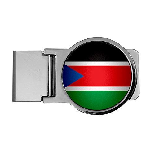 Premium Money Clip - Flag of South Sudan (Sudanese) - Round Design