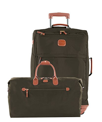 Bric's X Travel 21 International Carry On Spinner (Olive w/ Deluxe Duffle) by Bric's