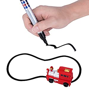 Egoelife Magic Pen Inductive Car Vehicle Set Toy Following Black Line Induction Rail Track Car