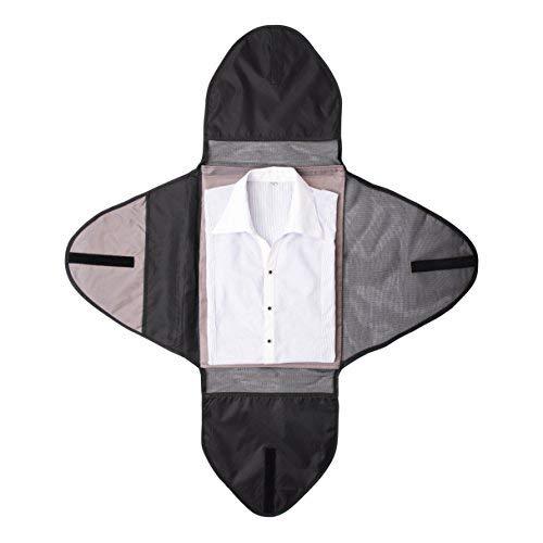 SHONPY Garment Packing Folder for Travel Clothes Organizer Travel Garment Bag Luggage Accessory Black