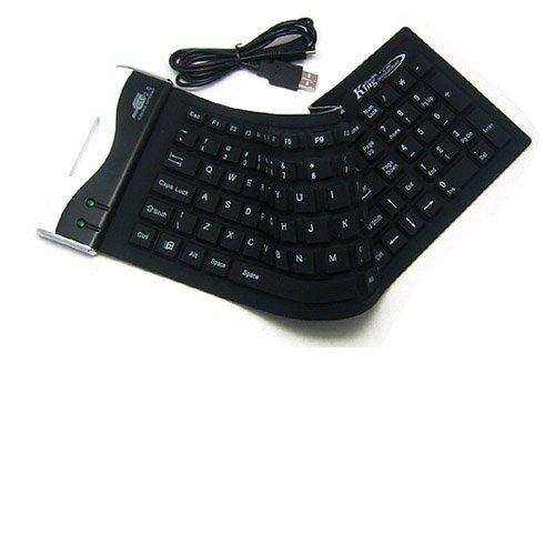 Usb Washable Keyboard - SIENOC USB 2.0 104Keys Flexible Silicone Waterproof PC Laptop Keyboard Color Black