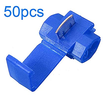 50x Quick Splice ScotchLock Wire Terminals Connector Electrical Crimp Cable Snap