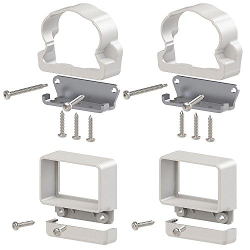 Veranda Traditional Williamsburg Vinyl Rail Line Bracket Kit (4-Pack)