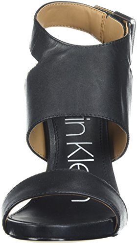 Klein Women's Leather Sandal Black Emmett Calvin Heeled ZFqv8vw