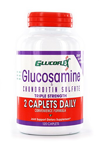 Glucoflex Glucosamine & CSA, 2-A-Day Bone and Joint Support, Triple Strength, Healthy Bones, 60 ()
