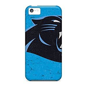 Great Hard Phone Covers For Iphone 5c (zkh13770GPha) Allow Personal Design Lifelike Carolina Panthers Skin