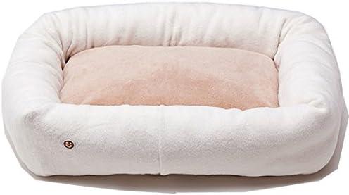 オーガニックコットン 犬 猫のベッド 綿毛布×ボア スクエアベッド M キナリ ミュッター mutter