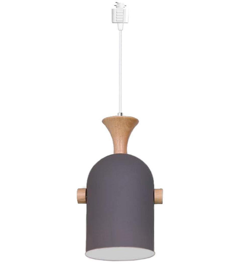 Kiven H-Type Track Pendant Lignting Aluminum and Wood Pendant Light for Kitchen Islands Lighting,1Pack