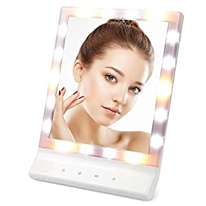 Large Lighted Magnifying Makeup Mirror