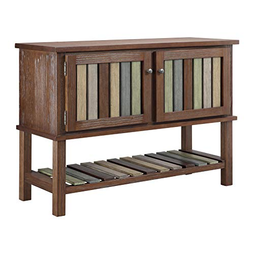 Ball & Cast HSA-5012 Cabinet Sofa Table, Rustic Brown ()