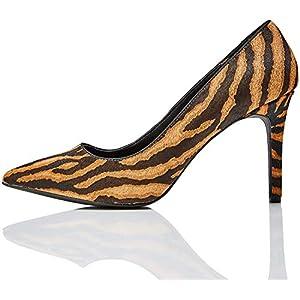 Marque Amazon – find. Point High Heel Leather Court, Escarpins à Talons Hautes, En Cuir, Femme