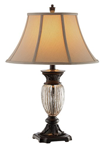 Stein World Furniture Tempe Table Lamp, Italy Bronze, (Ribbed Crystal Table Lamp)
