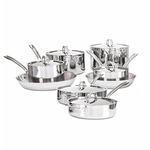 - Viking 3-Ply Stainless Steel Cookware Set, 14 Piece