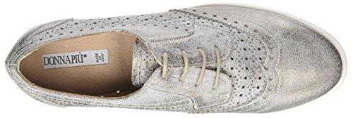 Derby Mujer Donna Cordones PIU de Piombo para Zapatos Lucilla 008 Gris xXwqX4H