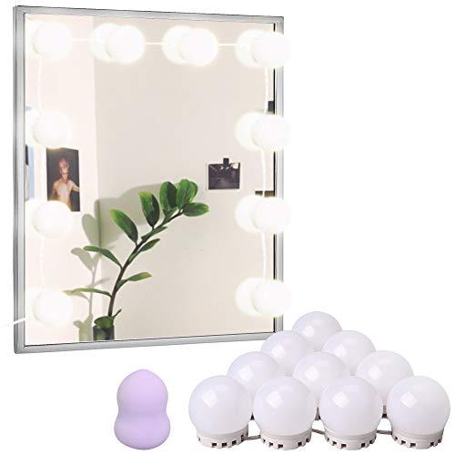 Sanatty Vanity Lighting for Make Up Mirror 10 Bulbs with Makeup Sponge