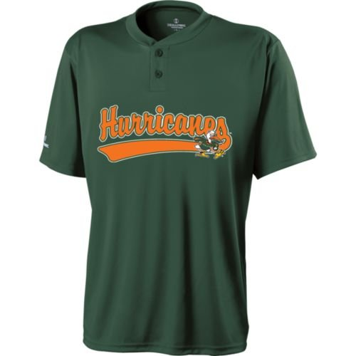(2-BUTTON MIAMI HURRICANES Dry Excel Placket ADULT 2XL Licensed NCAA College Replica Jersey)