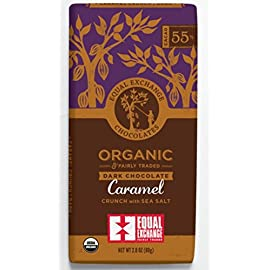 Equal Exchange Organic Chocolate Caramel Crunch with Sea Salt,  2.8-Ounce (Pack of 6) 52 Pack of Six, 3.5 Ounce per pack (Total of 21 Ounces) Gluten-free 97% fair trade ingredients by weight