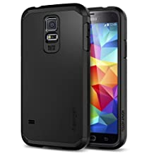 Galaxy S5 Case, Spigen [Heavy Duty] Tough Armor Case for Samsung Galaxy S5 - Retail Packaging - Smooth Black (SGP10761)