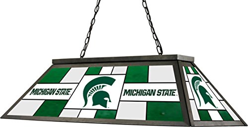 Imperial Officially Licensed NCAA Merchandise: Stained Glass Billiard/Pool Table Lamp/Light, Michigan State Spartans
