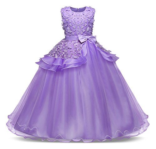 Bestfive Big Girls Prom Ball Gown Flower Girl