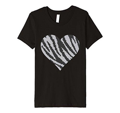One Zebra Wild Black (Kids Funky Zebra Design Heart t-shirt Cool Wild Animal Print 6 Black)