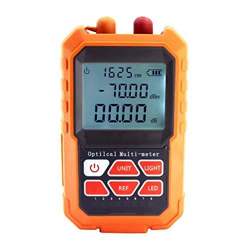 Ksruee Fiber Optical Light Source Optical Power Meter Tester Mini Portable Optical Fiber Power Meter Tester for Communication Detection