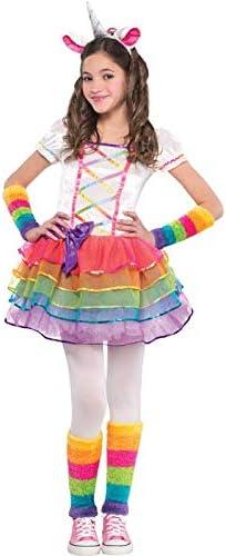 amscan Disfraz de Unicornio arcoíris para niñas con diseño de ...