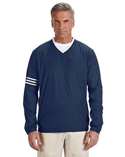 Adidas V-neck Sweater - Adidas Men's Climalite Color Block V-Neck Windshirt, Nvy/Nvy, X-Large