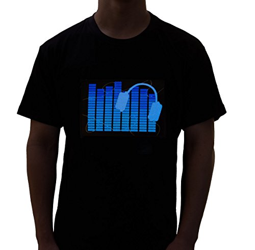 Electrolytz Ear Phones Beat Sound Activated LED Shirt (Led Sound Activated)